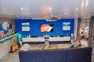 Wohnzimmer Renovierung mit Fliesen, Trockenbau und Vertäfelung_2